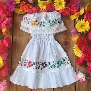 Other - Mexican hand Embroidered toddler dress size 2T